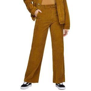 NWT BDG Brown Wide Leg High Waist Corduroy Pants